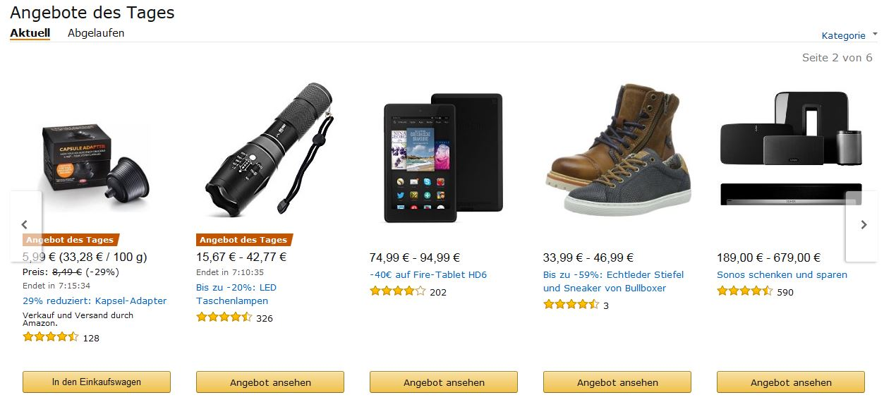 Amazon Lastminute Angebote